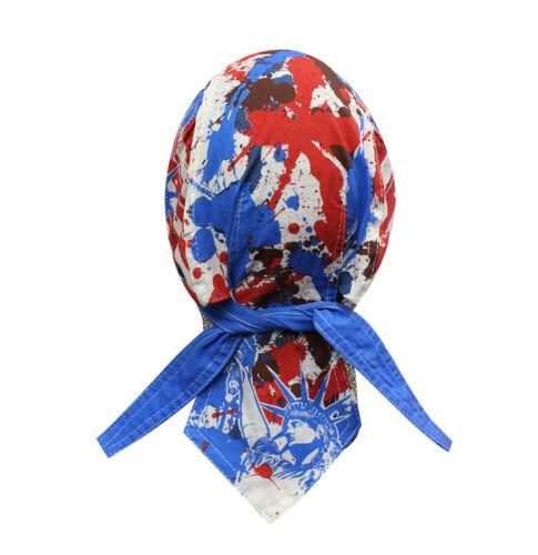 Red White Blue USA Liberty Head Wrap Bandanna Sweatband Durag Capsmith Biker