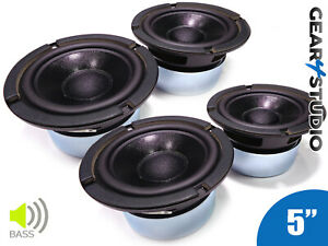 4x-HiFi-Bass-Lautsprechermembranen-5-034-130mm-90w-8-Ohm-beschichtet-Lautsprecher-4