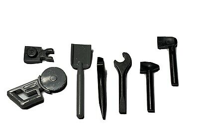 Lego 9 New Black Minifigure Utensil Tools Wrench Hammer Oil Can Ratchet More