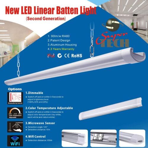 40W 1200MM Tri-Proff LED Batten Linear Tube  IP67 UK Seller