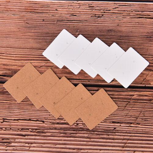 100x leere Ohrringe Ohrstecker Display Karte hängen Tags Kraftpapier Schmuck CSD