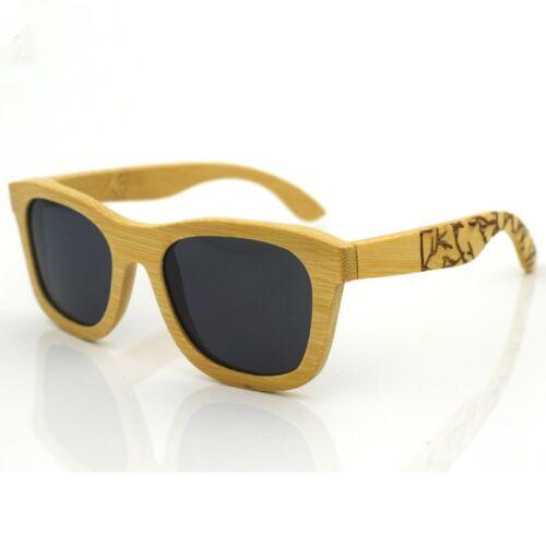 Natural Bamboo Wood Unisex Polarized Sunglasses Black//Red//Tea Wooden Glasses Box