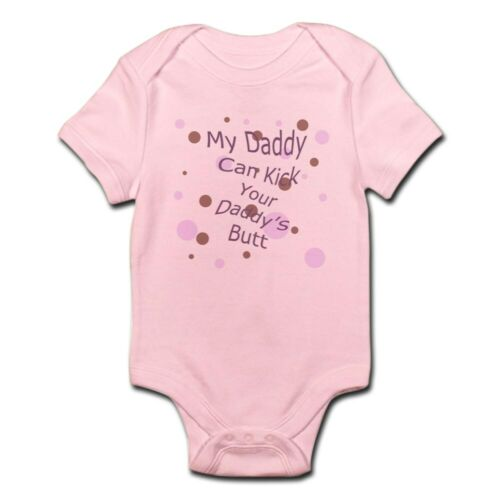 CafePress My Dad Can Kick Your Dad/'s Butt 63927379 Baby Bodysuit