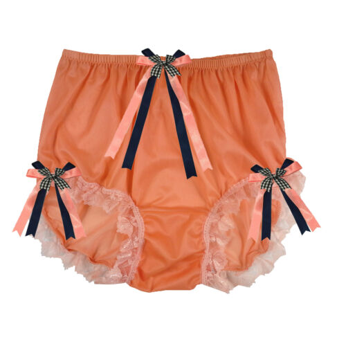 3 colour NNH11D New Handmade Ribbon BRIEFS PANTIES NYLON KNICKERS WOMEN Pinup