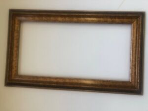Antique-Gold-and-Black-Hard-to-Find-12-x-24-Wood-Picture-Frame