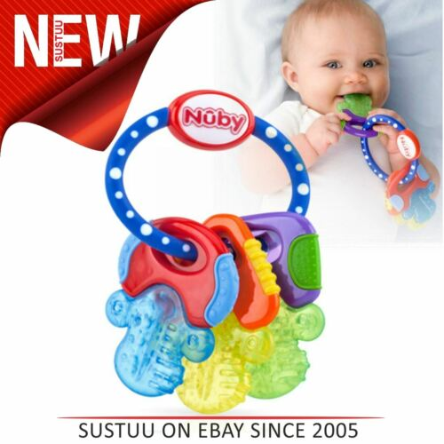 Nuby Baby Teether Icy Bites Keys│Easy to hold│Filled With Gel For Chilling│3m+