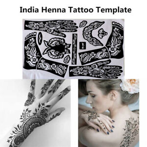 India-Henna-Template-Hand-Body-Art-Tattoo-Stencils-Reusable-Temporary-Tools-Z