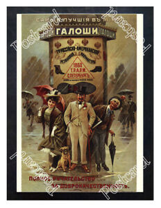 Historic-Russian-American-rubber-manufacture-galoshes-Advertising-Postcard