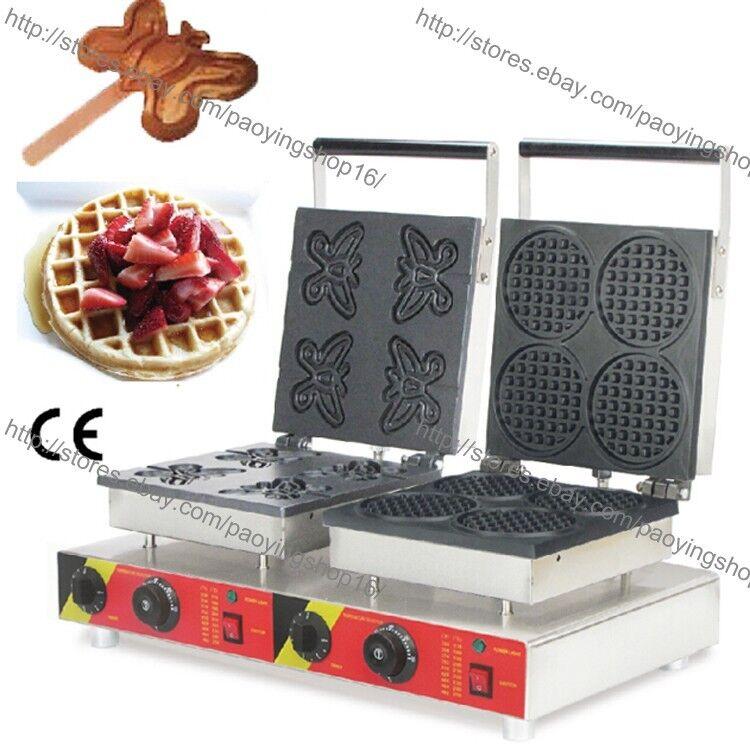 Commercial Poêlon Electric Papillon Waffle Baker Mini Rond Gaufre Maker fer