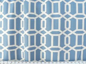 Drapery Upholstery Fabric 100 Cotton Geometric Chain Print Ivory