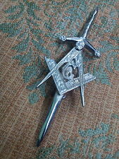 S1 New Masonic Kilt Pin Chrome Finish/Kilt Pin Masonic Badge/Highland Kilt Pins