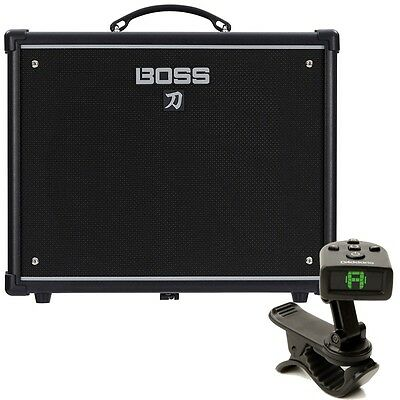 boss katana 50 1x12 guitar combo amplifier free planet waves headstock tuner ebay. Black Bedroom Furniture Sets. Home Design Ideas