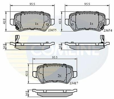 2X REAR AXLE BRAKE DISCS FOR BMW 3 E46 2.0 2.2 2.5 2.8 1.9 1998-2007 COMLINE