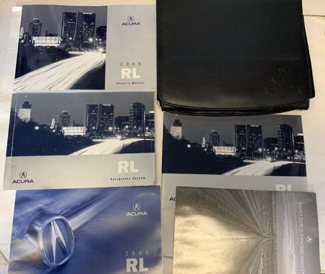 2005 Acura RL Owners Manual Set Case Handbook OEM