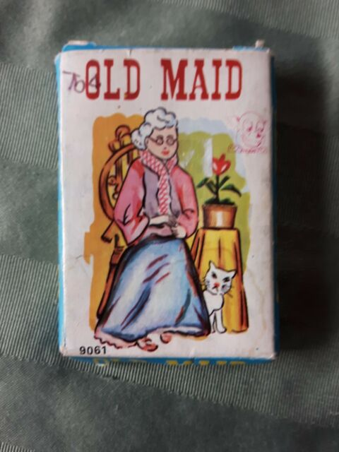 Vintage old maid cards