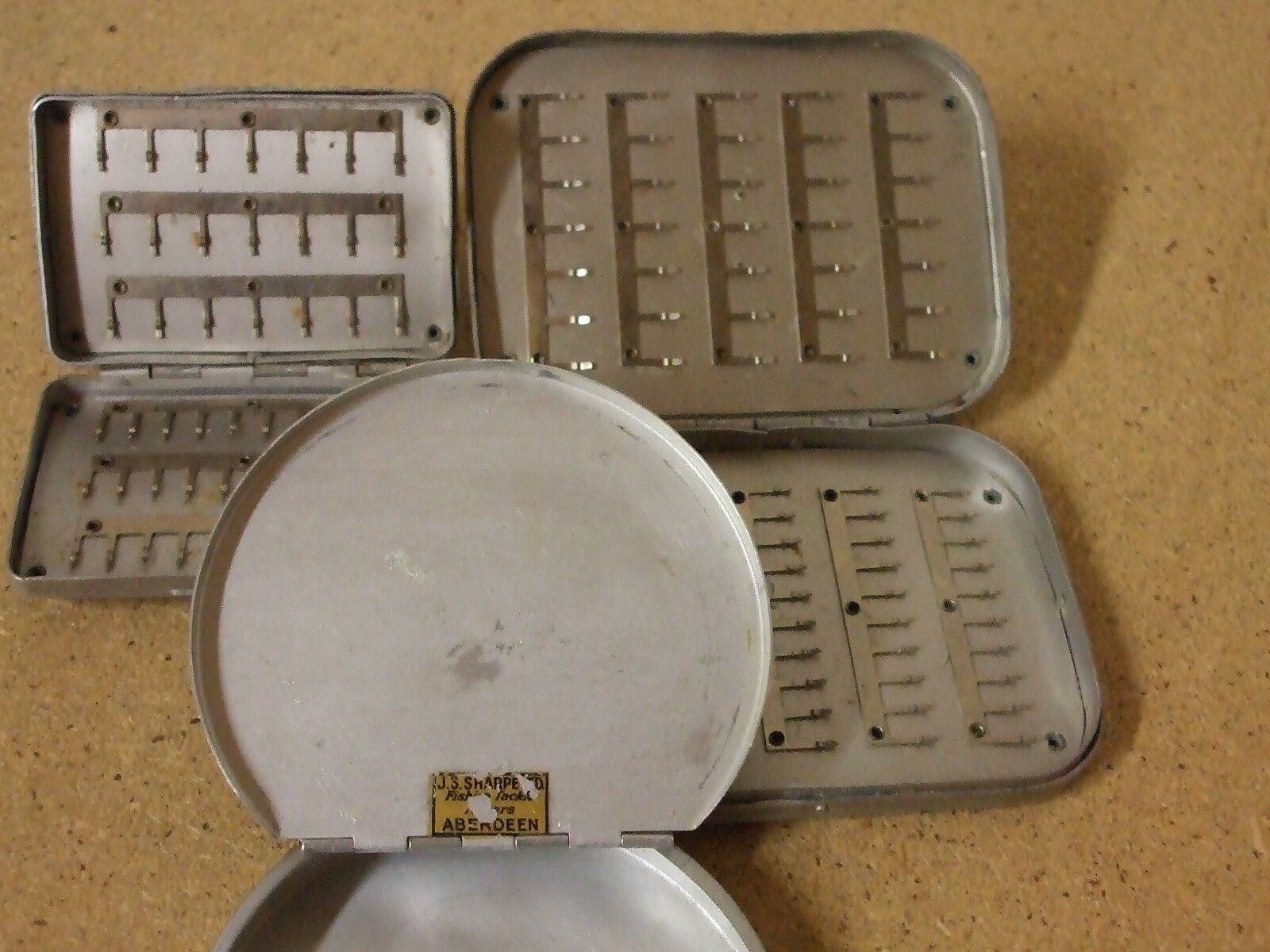 Vintage fly box  cast tin collection
