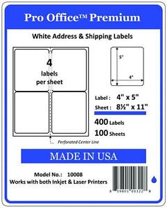 400 shipping labels 4x5 round corner 4 per sheet blank for How to send a shipping label to someone