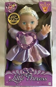 Lovee-Little-Princess-12-Talking-Doll-74112-Blonde-Purple-Dress-Ages-2-NEW
