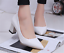 Womens-Pointed-Toe-Court-Pumps-High-Heels-Shoes-Block-Kitten-Spring-OL-Slip-On thumbnail 6