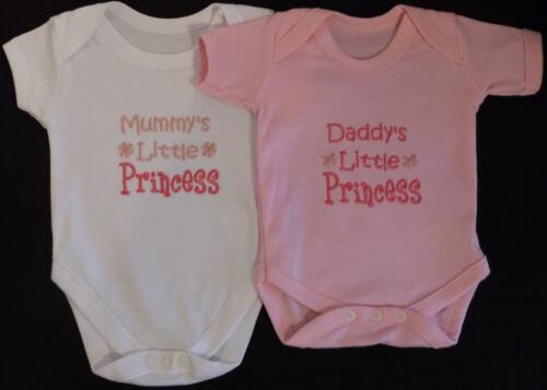Daddy/'s Little Princess Baby Vest Grow Clothes Girl Funny Gift White Pink