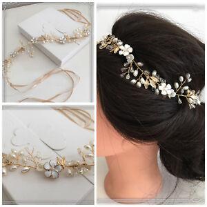 Le Meilleur Bijoux De Cheveux Mariée Bijoux Mariage Haarkette Bandeau Haardraht Gold Haarranke-afficher Le Titre D'origine