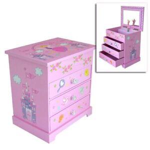 GIRLS CHILDRENS PINK MUSICAL BALLERINA TRINKET JEWELLERY BOX  MELE FAIRY CASTLE
