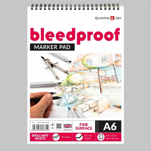 75gsm A6 manga dessin fine Surface Pad Artiste Papier sur Spirale Livre