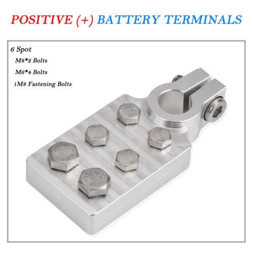 Pair of 4 Spot 6 Spot Car Audio Top Post Flat Lug Style Marine Battery Terminal