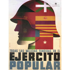 WAR PROPAGANDA SPANISH CIVIL CNT FAI REPUBLICAN SPAIN VINTAGE AD POSTER 2789PY