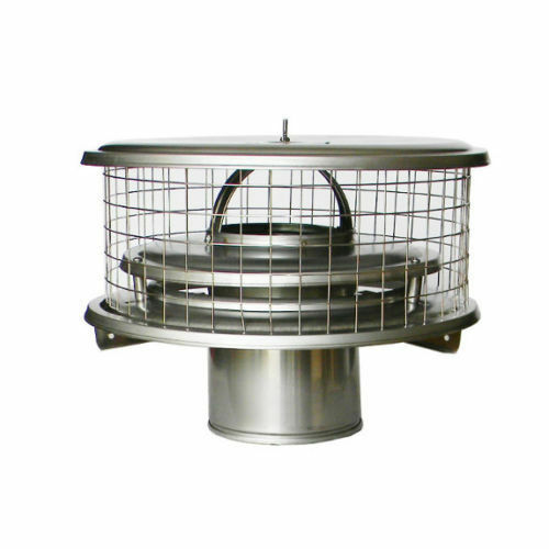 """7/"""" WeatherShield Stainless Steel Chimney Cap  for Air Cooled Chimney Pipe"""