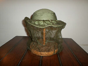 7552a569f0e52 U.S MILITARY VIETNAM BOONIE JUNGLE HAT WITH INSECT MOSQUITO NET OD ...