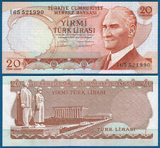 TÜRKEI / TURKEY 20 Lira 1970 (1974)  UNC  P.187 b