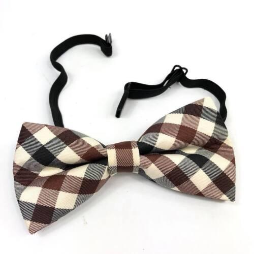 Ivory Dark Brown Suspender  BowTie Set Wedding Formal Tuxedo Men Women USA