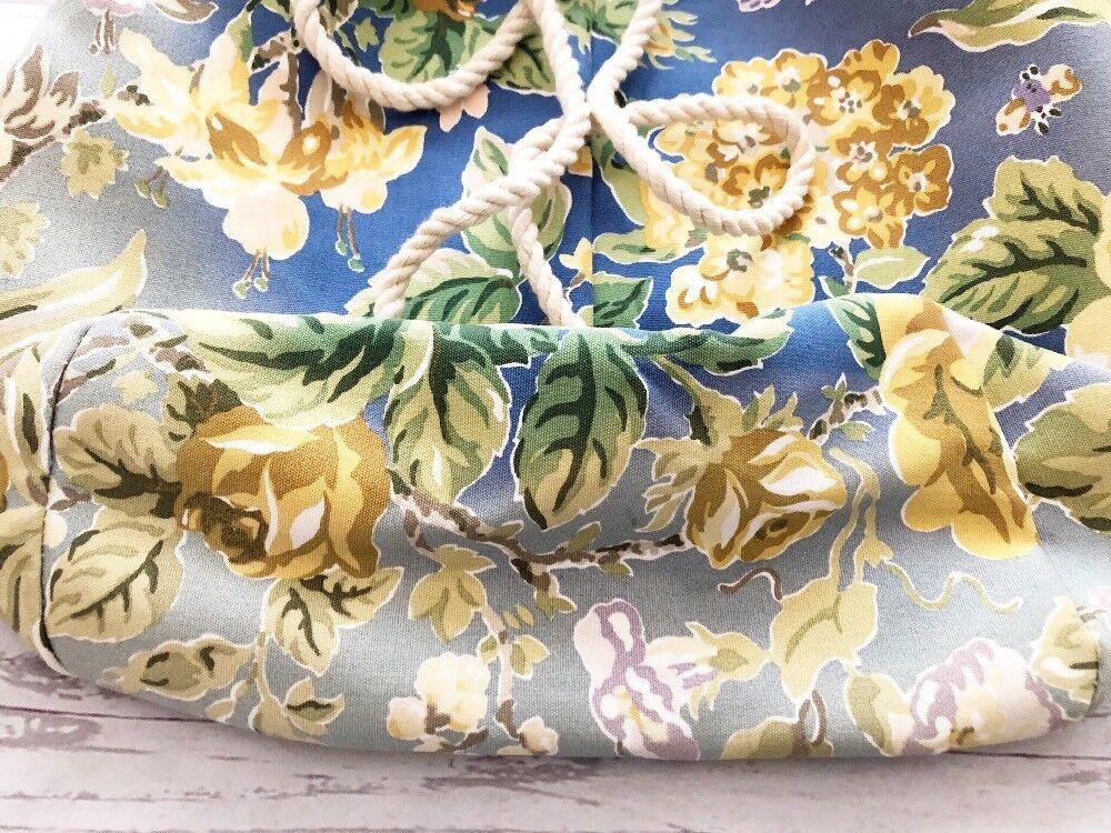 Vintage 1990's Laura Ashley Floral Cinch Backpack… - image 8