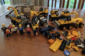 Mega Bloks Huge Cat Construction Lot Dump Trucks Cranes