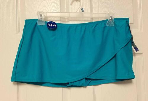 Catalina Full Coverage Swim Bikini Wrap Skirt Inner Brief Bottom M 8 10 XL 1618