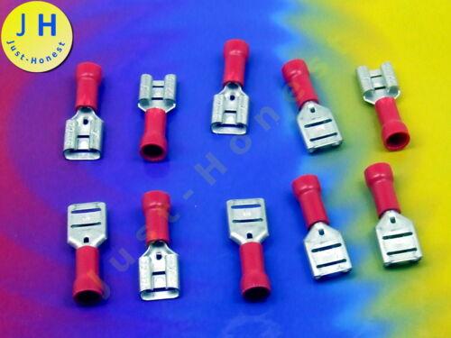 STK 10x Cavo Scarpe 6.3mm 0.5-1mm² Flat Plug//PIATTO PRESA STAGNATO #a1687