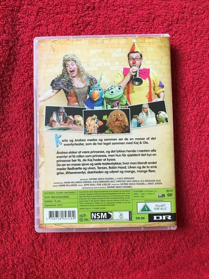 Kaj & Andrea Vi elsker vores eventyr 2 , DVD, familiefilm
