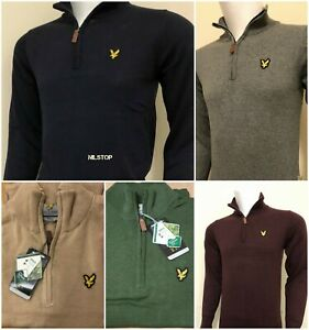 BRAND-NEW-LYLE-AND-SCOTT-QUARTER-ZIP-JUMPER-FOR-MEN