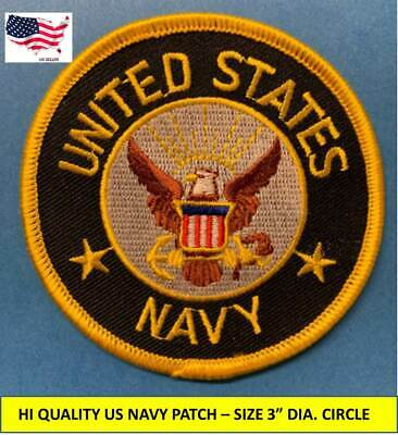 """USMC Embroidered Patch~ROUND 3/""""~Iron or Sew On~Marine Corp--FREE Shipping"""