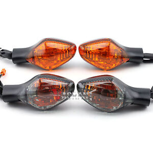 Turn Signal Indicator Light FIT For HONDA CBR650F CB650F CBR500R CB500F CB500X CBR400R CB400F CB400X Motorcycle Front//Rear Lamp Color : Smoke FJJ-DENG