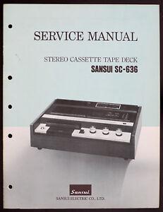 SANSUI-sc-636-Original-Estereo-CASSETTE-Unidad-de-cinta-MANUAL-SERVICIO-diagrama
