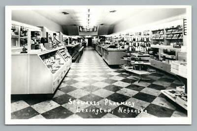Stuart's Pharmacy Interior LEXINGTON Nebraska RPPC Vintage Store Photo~1950s | eBay