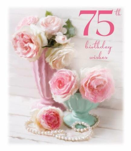 MOTS D/'AMOUR ~ Happy 75th Anniversaire ~ 75 ANS PAILLETTES Carte D/'Anniversaire