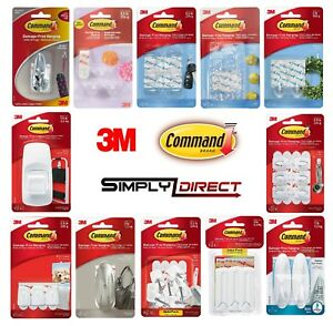 Details about 3M COMMAND Hooks, Mini, Utility, Ceiling, Jumbo, Large,  Nickel, Designer Hooks
