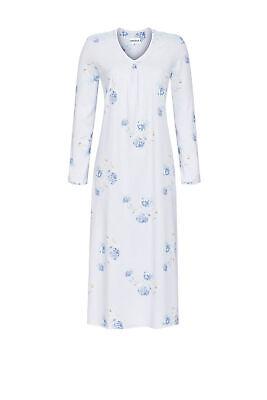 Ringella Damen Nachthemd Langarm Baumwolle Modal in Bunt Blumen Cherie Line