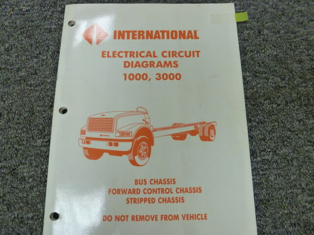 1991 1992 international 3600 3700 bus chassis electrical wiring diagram  manual