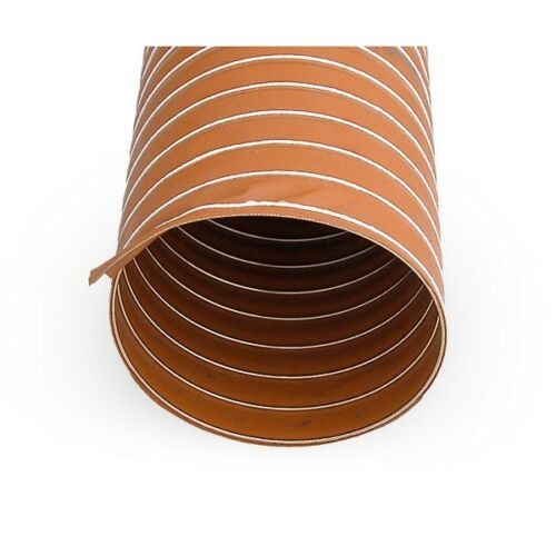 Flexible Duct Cold /& Hot Air 51mm Silicone 2 Ply Orange 1 Metre Air Ducting