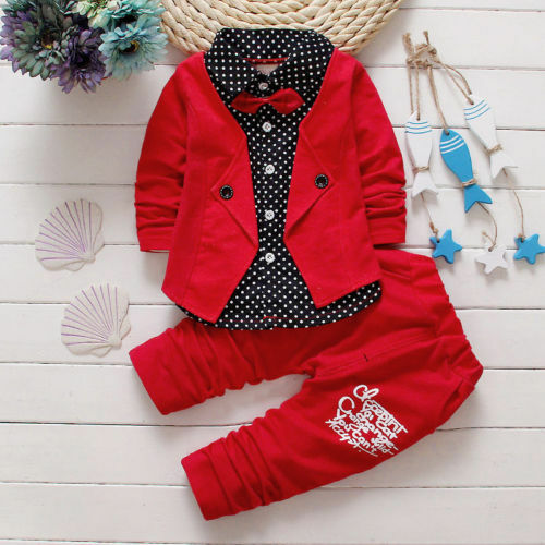 Kids Baby Boy Gentleman Coat Tops+Pants Wedding Party Clothes Set Formal Outfits