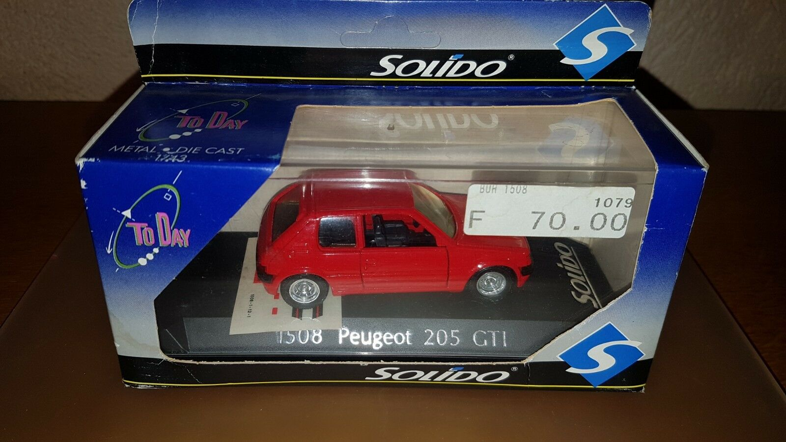 Peugeot 205 GTI ROUGE ROUGE ROUGE - N°1508 - SOLIDO TO DAY 1d7412